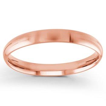3mm Wedding Ring in 14K Rose Gold