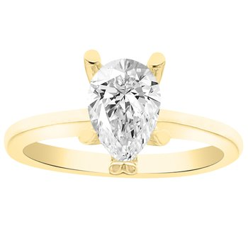 Solitaire Engagement Ring in 14K Yellow Gold