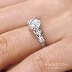 1ct tw Diamond Engagement Ring in 18K White Gold