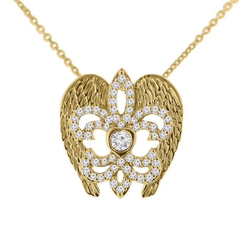 3/8ct tw NewBorn Lab Created Diamond Rise Up Nola Necklace in 14K Yellow Gold