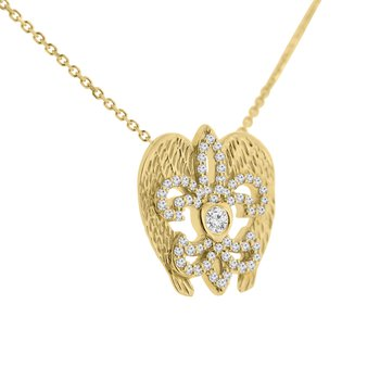 3/8ct tw NewBorn Lab Created Diamond Rise Up Nola Necklace in 14K Yellow Gold