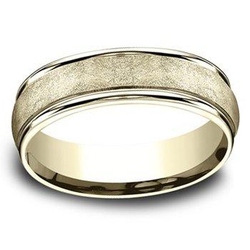 6.5mm Wedding Ring in 14K Yellow Gold