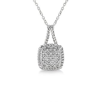 1/20ct tw Diamond Fashion Necklace in Sterling Silver