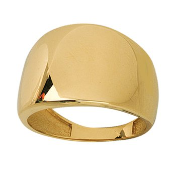 Graduated Polished Ring in 14K Yellow Gold
