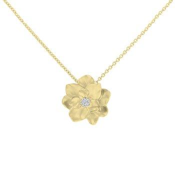 .02ct tw Diamond Nola Collection Magnolia in 10K Yellow Gold