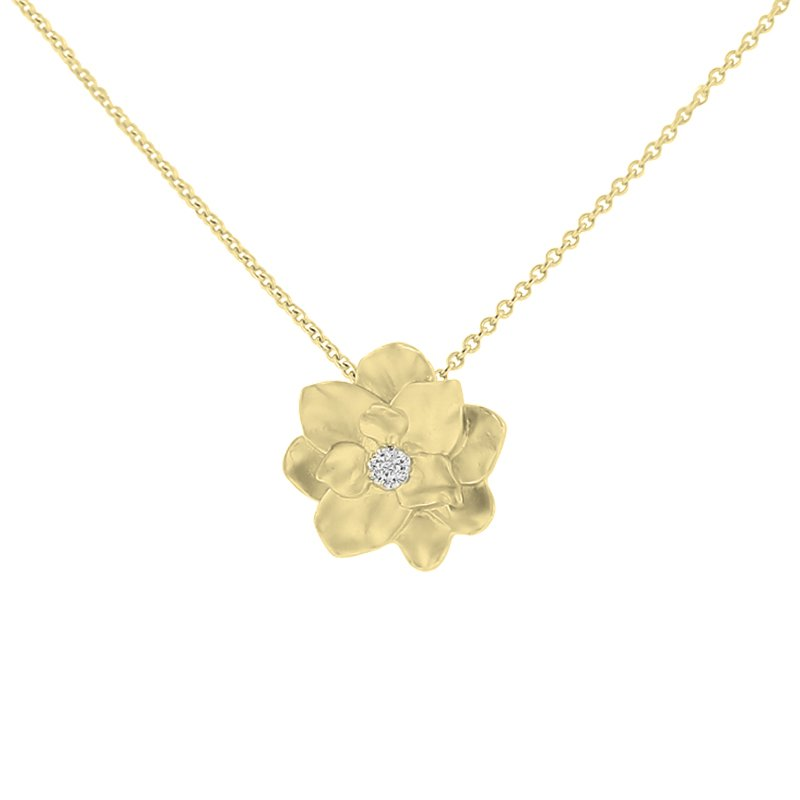 .02ct tw Diamond Nola Collection Magnolia in 10K Yellow Gold