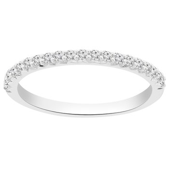 1/4ct tw NewBorn Lab Created Diamond Wedding Ring in 14K White Gold