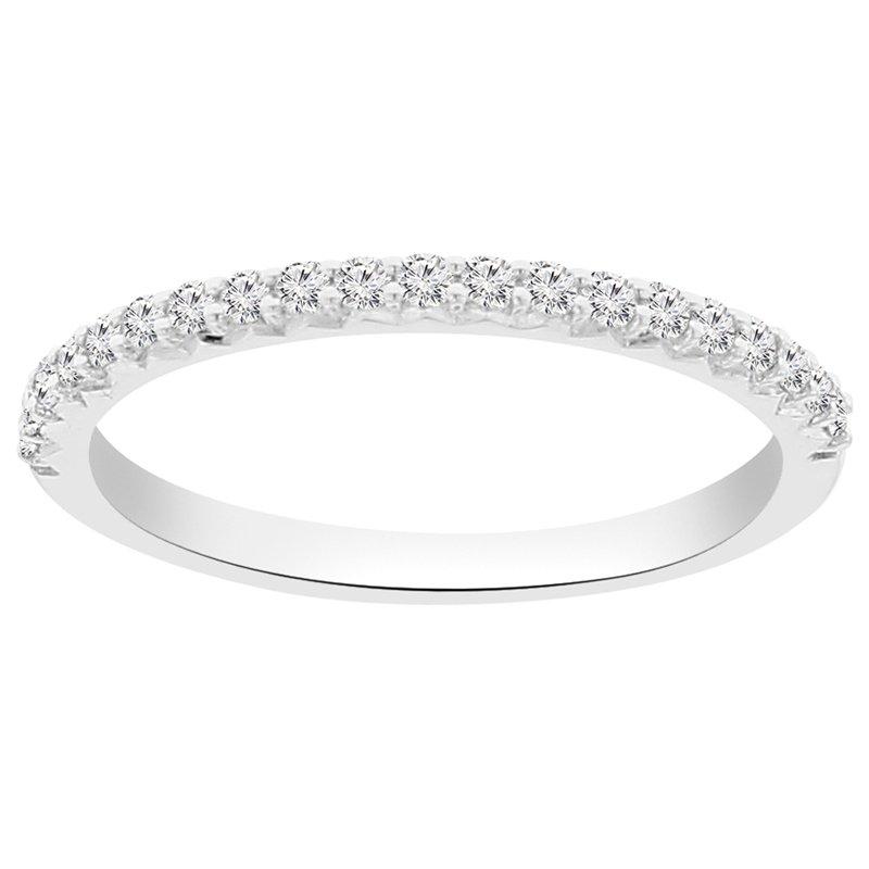 1/4ct tw NewBorn Lab Created Diamond Wedding Ring in 14K White Gold