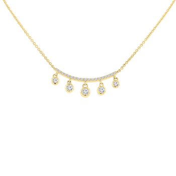 1/3ct tw Diamond Bar Necklace in 14K Yellow Gold