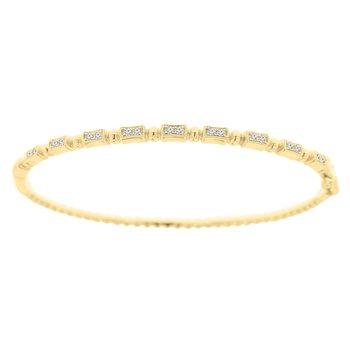 1/4ct tw Diamond Bangle Bracelet in 14K Yellow Gold