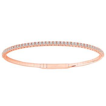 1ct tw Diamond Flexi Collection Bangle Bracelet in 14K Rose Gold
