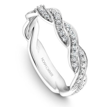 3/8ct tw Diamond Wedding Ring in 14K White Gold
