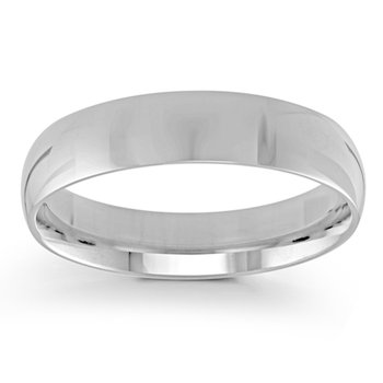 5mm Wedding Ring in 14K White Gold