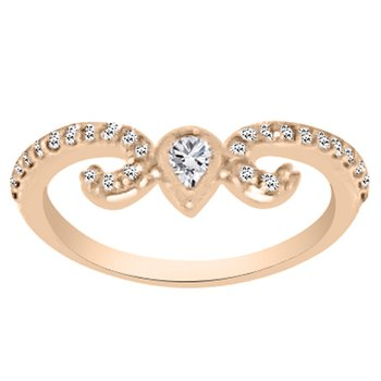 3/8ct tw NewBorn Lab Created Diamond Stackable Ring in 14K Yellow Gold