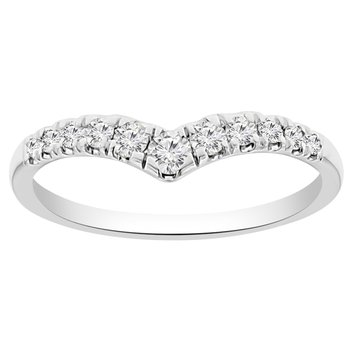1/4ct tw Diamond Stackable Ring in 10K White Gold