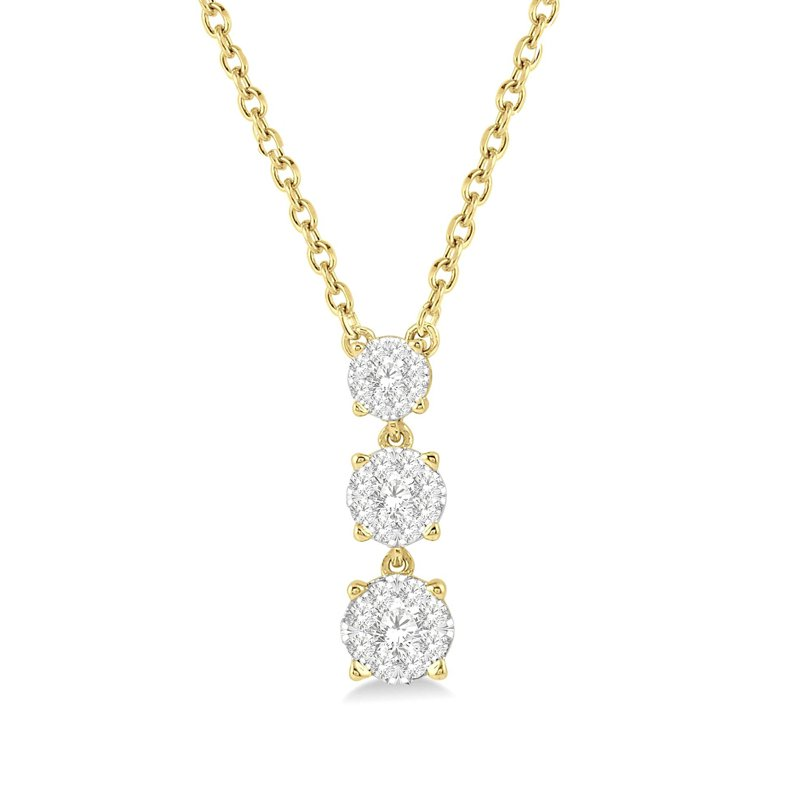 1/3ct tw Diamond Thousand Points of Light Necklace in 14K Yellow Gold
