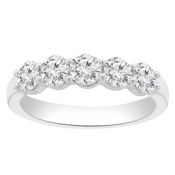 3/4ct tw NewBorn Lab Created Diamond Wedding Ring in 14K White Gold