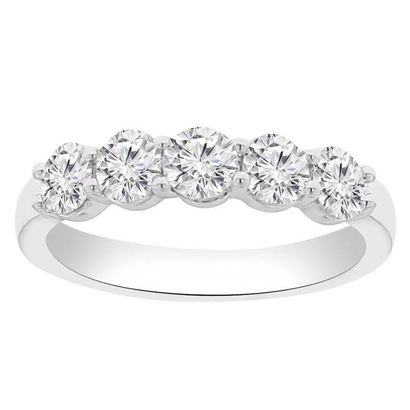 3/4ct tw NewBorn Lab Created Diamond Wedding Ring in 14K White Gold