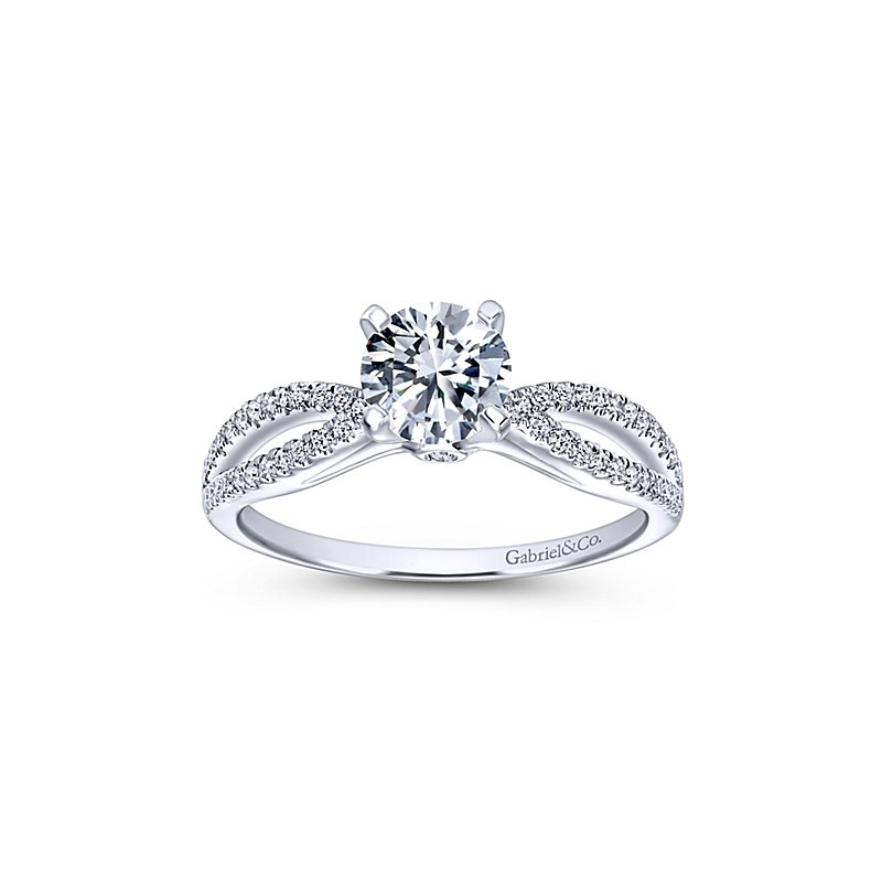 9/10ct tw Diamond Engagement Ring in 14K White Gold