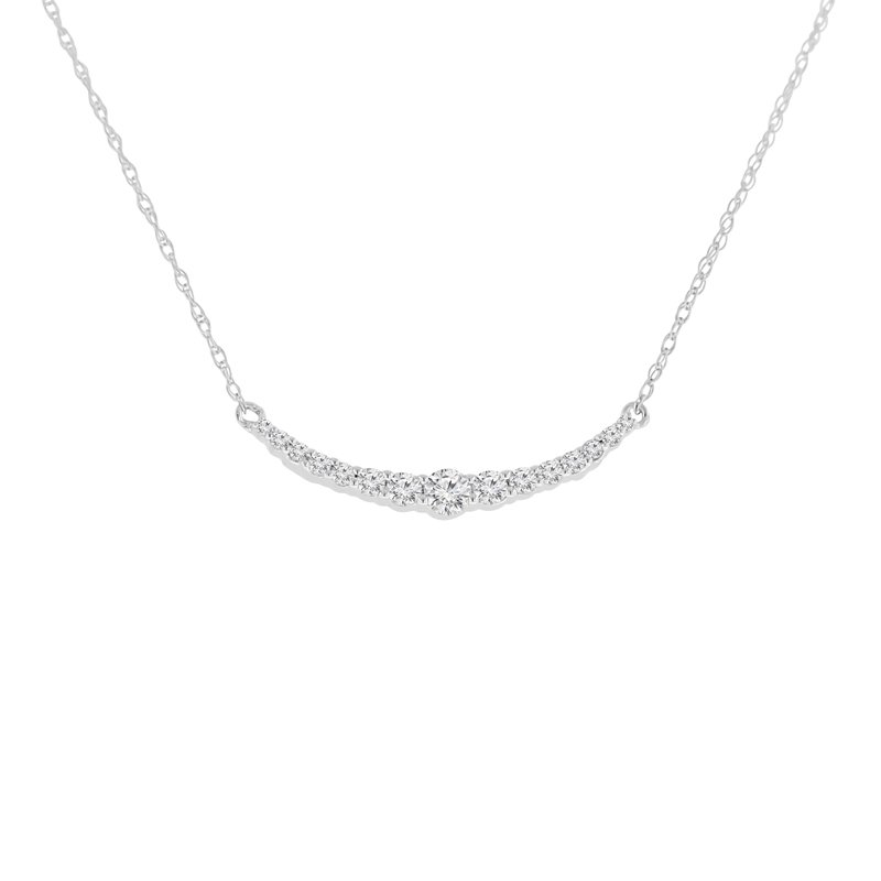 1/4ct tw Diamond Bar Necklace in 10K White Gold