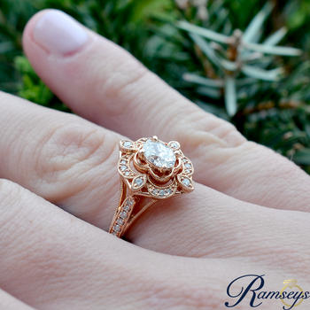 3/4ct tw Diamond Engagement Ring in 14K Rose Gold