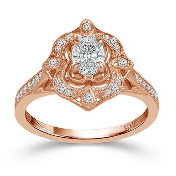 3/4ct tw Diamond Engagement Ring in 14K Rose Gold