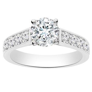 3/4ct tw Diamond Engagement Ring Setting in 14K White Gold