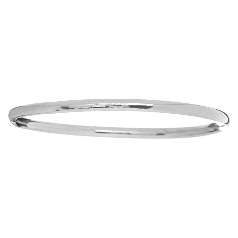 Stackable Bangle Bracelet in 14K White Gold