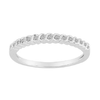 1/10ct tw Diamond Stackable Ring in 10K White Gold
