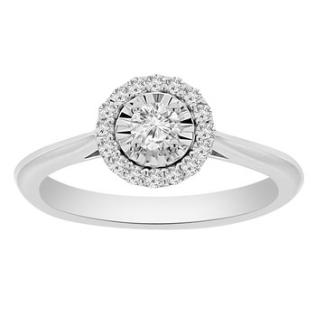 1/3ct tw Diamond Simply Love Collection Fashion Ring in 14K White Gold