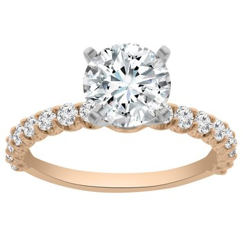 1/2ct tw NewBorn Lab Created Diamond Engagement Ring Setting in 14K Rose Gold
