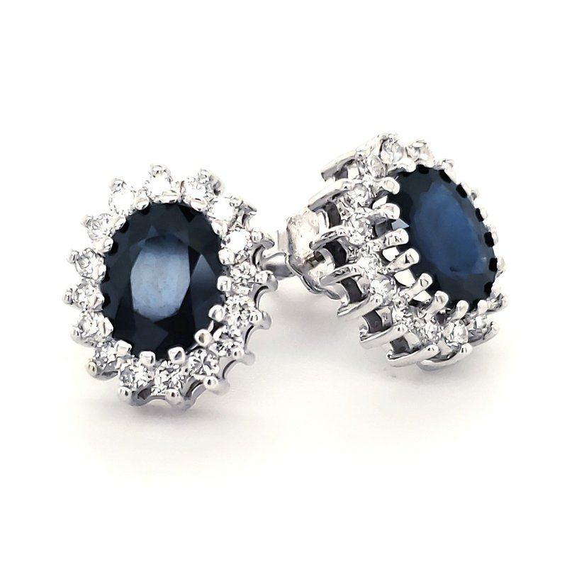 Estate Collection Sapphire and Diamond Earrings