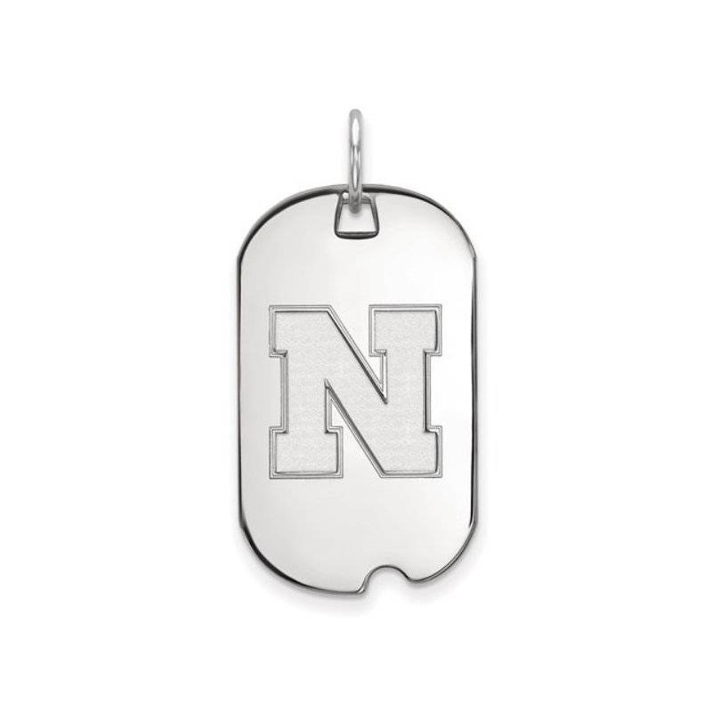 "Husker Jewelry Collection 14K Husker ""N"" Dog Tag"