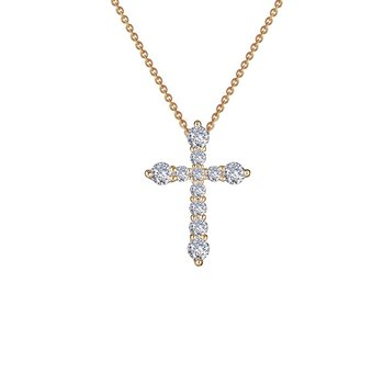 Lafonn Gold Plated Sterling Silver Cross Pendant