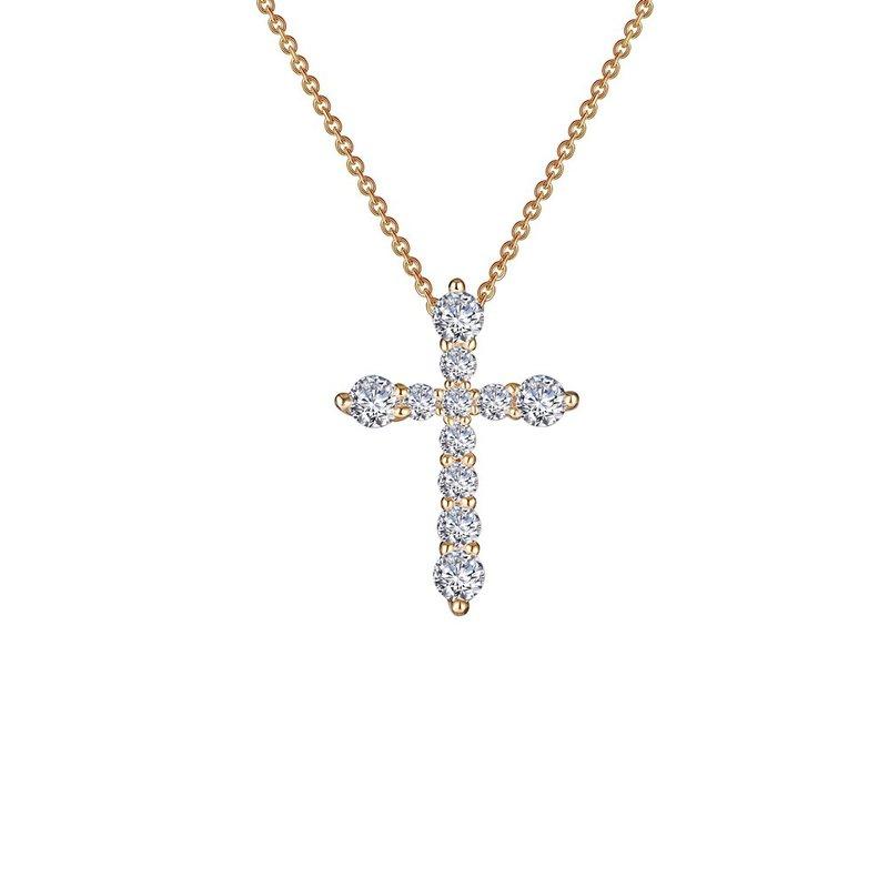 Sartor Hamann Signature Lafonn Gold Plated Sterling Silver Cross Pendant