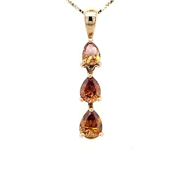 Golden Brown Diamond Pendant