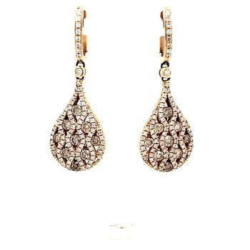 Champagne Diamond Drop Earrings