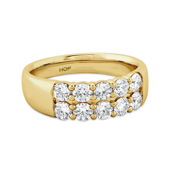Hearts on Fire Signature Double Row Ring