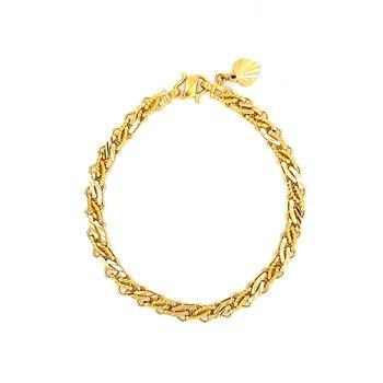 22K Fancy Link Bracelet