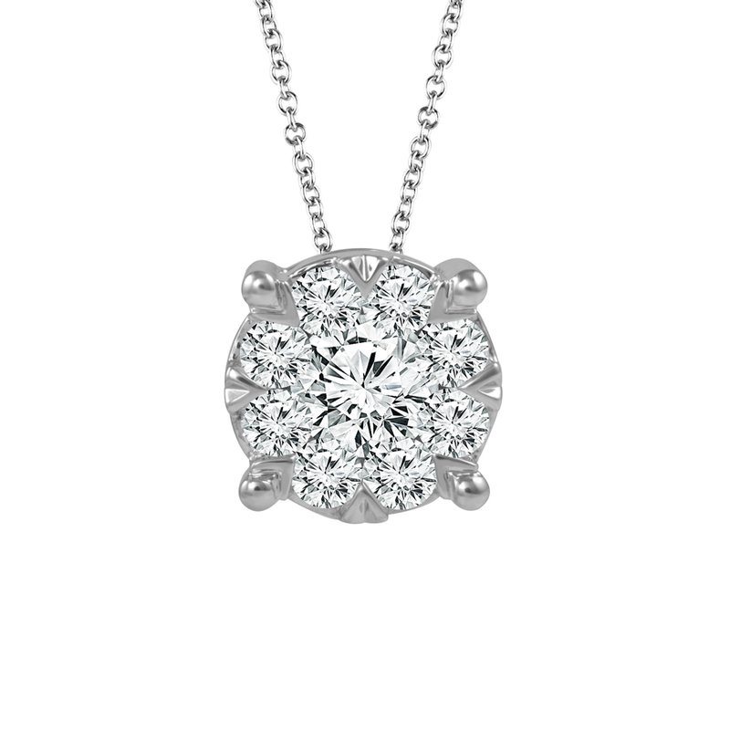 Sartor Hamann Signature Diamond Halo Pendant in 1/3 CT to 3/4 CT T.W.