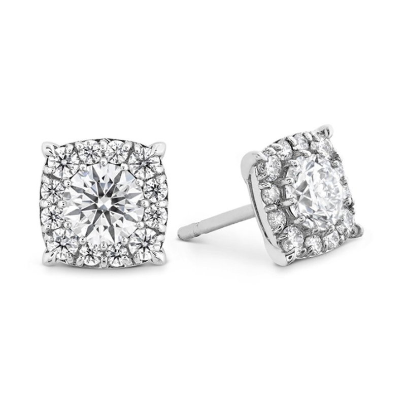 Sartor Hamann Signature Hearts on Fire Halo Diamond Stud Earrings