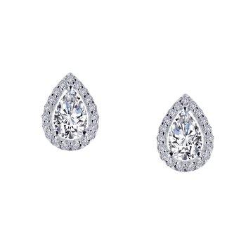 Lafonn Sterling Silver Halo Stud Earrings