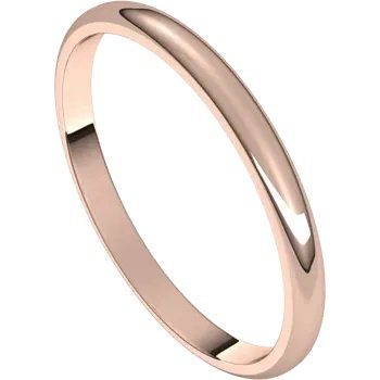 Wedding Band 2mm Rose Gold