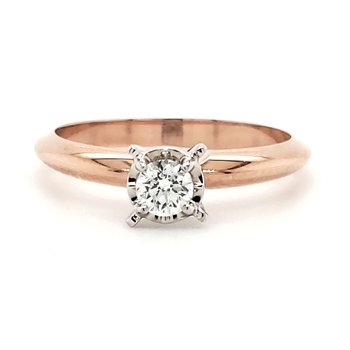 Petite Illusion-Crown Solitaires 1/10 CT to 3/8 CT