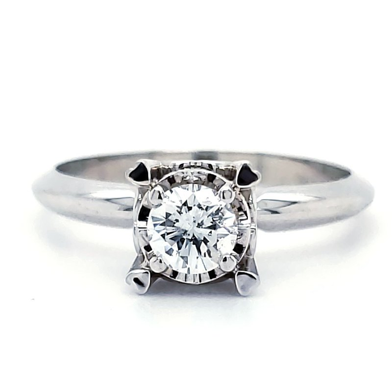Sartor Hamann Bridal Petite Illusion-Crown Solitaires 1/10 CT to 3/8 CT