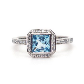 Ritani Aquamarine Ring