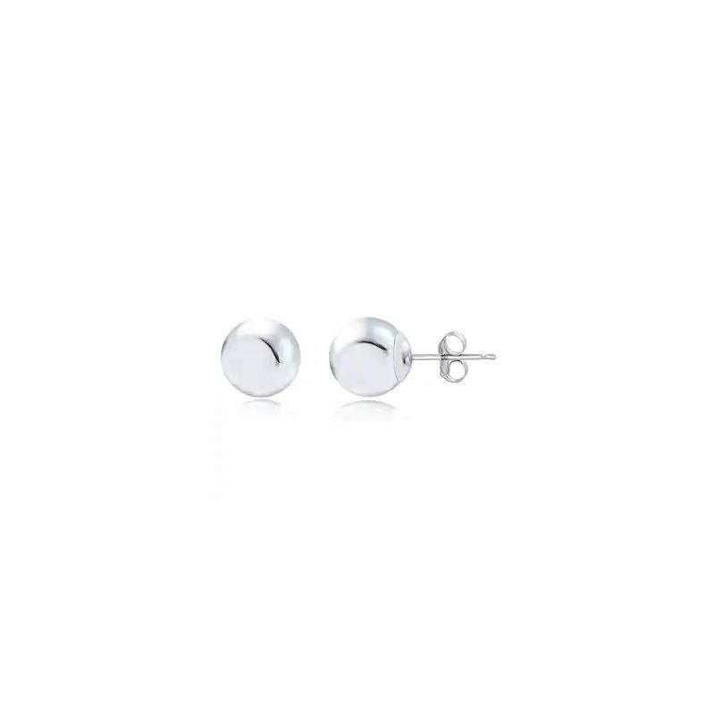 Sartor Hamann Signature 14KT White Gold Ball Stud Earrings in 4 Sizes