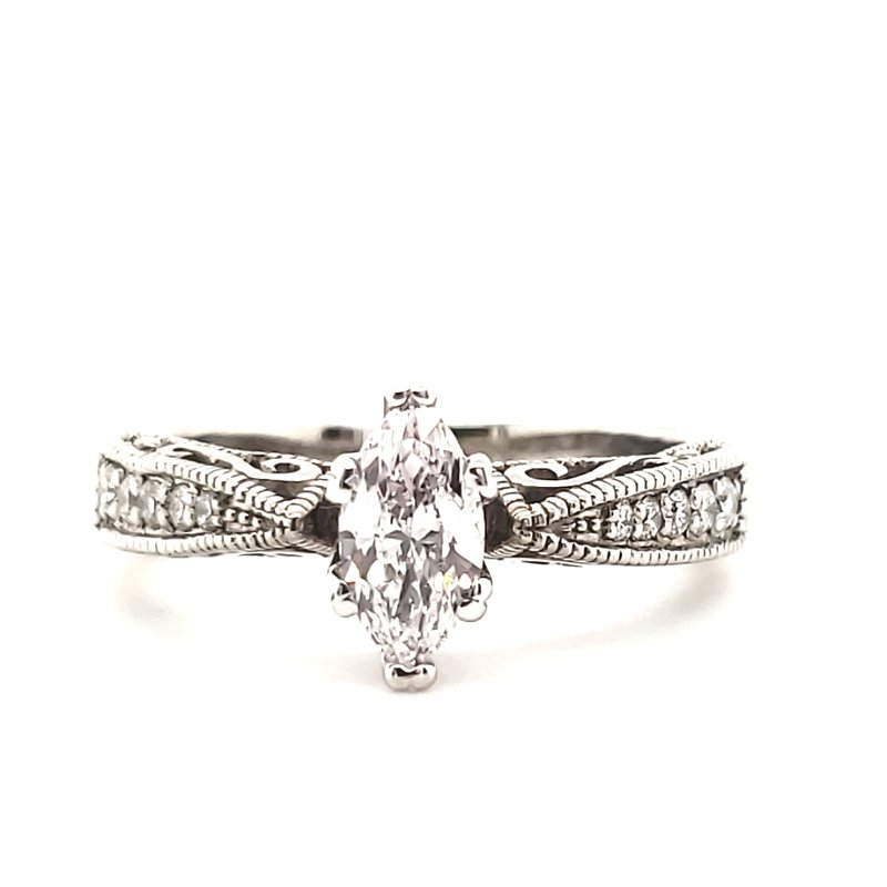 Estate Collection Palladium Engagement Ring