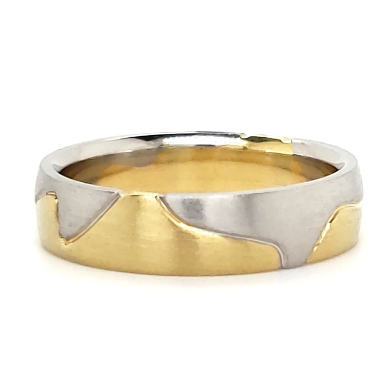 Estate Collection Men's 18K and Platinum Band