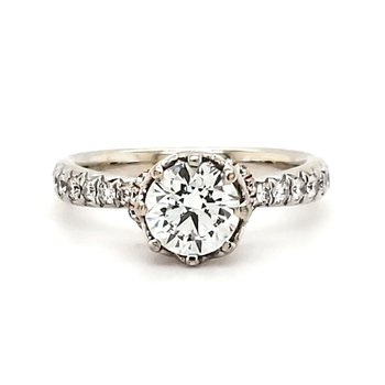 Engagement Ring - Lab Created Center